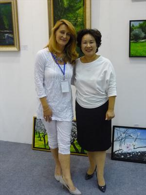 Lady Chen with the artist