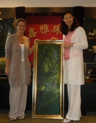 Shaofan Li, the new owner of Visit to Giverny