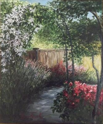 Father's Garden Patio, 41x33cms