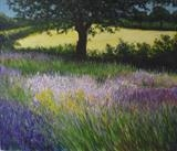 Breeze through Fields of Lavendar by Lizzy Forrester, Painting, Oil and Acrylic on Canvas
