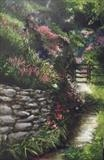 Garden Pathway by LIZZY FORRESTER, Painting, Oil and Acrylic on Canvas
