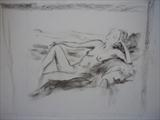Nude Drawing #1 by Lizzy Forrester, Drawing, Charcoal on Paper