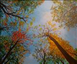 Autumn Sky II by Deborah Elizabeth McNeill, Painting, Oil on canvas