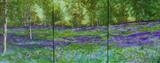 BLUEBELL MEADOW TRIPTYCH by Lizzy Forrester, Painting, Oil and Acrylic on Canvas