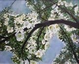 Blooming Branch of Blossom by Lizzy Forrester, Painting, Acrylic on canvas
