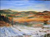 SCOTLAND, Winter landscape by Deborah McNeill, Painting, Acrylic on paper
