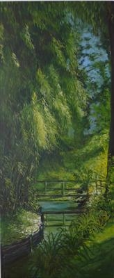 A Visit to Giverny by Lizzy Forrester, Painting, Oil and Acrylic on Canvas