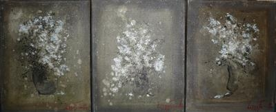ASHES IN BLOOM TRIPTYCH by Lizzy Forrester, Painting, Acrylic on canvas