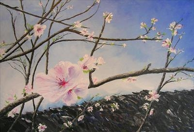 Arrival of Spring by Deborah Elizabeth McNeill, Painting, Acrylic on canvas