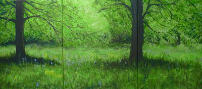 BluebellWood by Lizzy Forrester, Painting, Oil on canvas