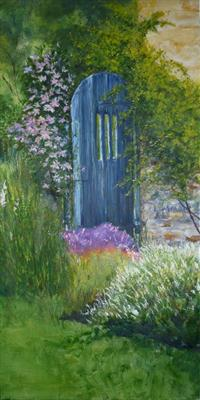 Garden Gate by Lizzy Forrester, Painting, Oil on canvas