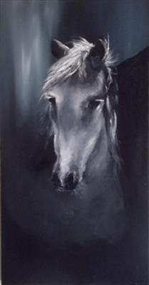 Horse by LIZZY FORRESTER, Painting, Oil and Acrylic on Canvas