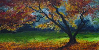 My Love of Trees IV by Lizzy Forrester, Painting, Oil on canvas