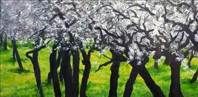 My Love of Trees Nº IV by Deborah Elizabeth McNeill, Painting, Oil on canvas