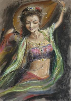 Spirit Dance by Lizzy Forrester, Painting, Pastel