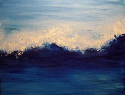 Summer Wave by Lizzy Forrester, Painting, Acrylic on canvas
