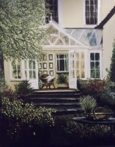 The Conservatory by Lizzy Forrester, Painting, Oil and Acrylic on Canvas