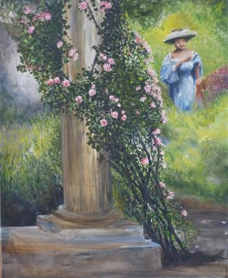 The Garden Fête by Lizzy Forrester, Painting