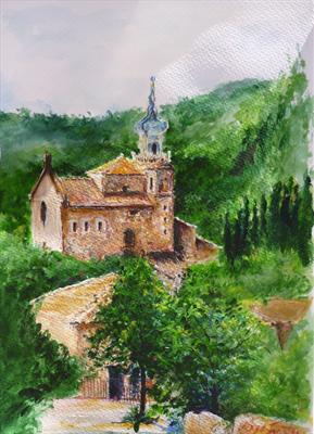 Valldemossa by Lizzy Forrester, Painting, Acrylic on paper