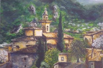 Valldemossa by Lizzy Forrester, Painting, Oil and Acrylic on Canvas