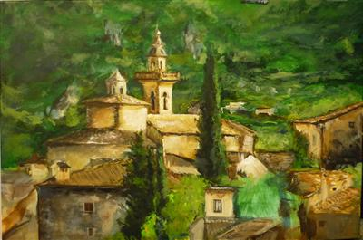 Valldemossa, Mallorca II by Lizzy Forrester, Painting, Oil on canvas
