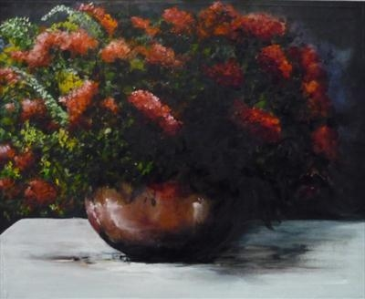A BOWL FULL OF PASSION by Lizzy Forrester, Painting, Oil and Acrylic on Canvas