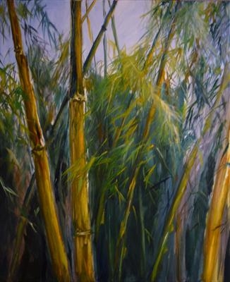 Bambu I by Lizzy Forrester, Painting, Oil on canvas