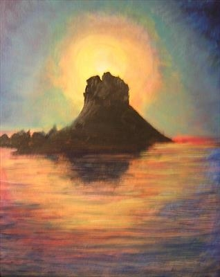 ES VEDRA II by Deborah Elizabeth McNeill, Painting, Acrylic on board