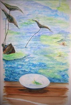 "Feng Shui ""renewed energies"" by Deborah Elizabeth McNeill, Painting, Watercolour on Paper"