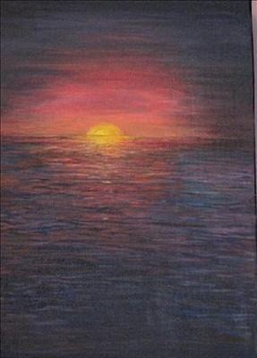 Sunset by Deborah McNeill, Painting, Acrylic on canvas